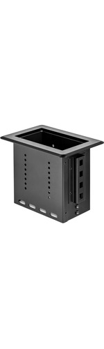 StarTech.com Single-Module Conference Table Connectivity Box - For Adding Power / Charging / AV / Laptop Docking Module - Single-Module Conference Table Connectivity