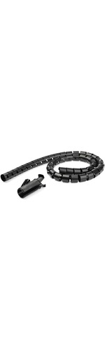 StarTech.com 1.5m / 4.9ft Cable Management Sleeve - Spiral - 25mm / 1And#34; Diameter - W/ Cable Loading Tool - Expandable Coiled Cord Organizer - Polyethylene