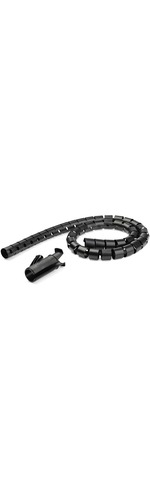 StarTech.com 1.5m / 4.9ft Cable Management Sleeve - Spiral - 45mm/1.8And#34; Diameter - W/ Cable Loading Tool - Expandable Coiled Cord Organizer - Polyethylene