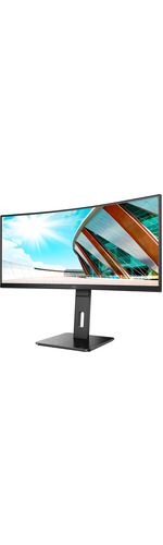 AOC CU34P2A 34And#34; UW-QHD Curved Screen WLED Gaming LCD Monitor - 21:9 - Black