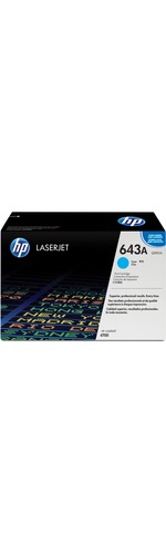 HP 643A Toner Cartridge - Cyan - Laser - Standard Yield - 10000 Page - 1 Each