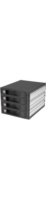 StarTech.com 4 Drive 3.5in Trayless Hot Swap SATA Mobile Rack Backplane - 4 x Total Bay - 4 x 3.5 Bay