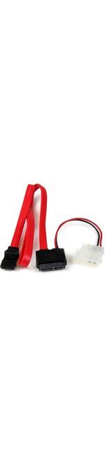 StarTech.com 36in Slimline SATA to SATA with LP4 Power Cable Adapter - Female SATA - Female SATA