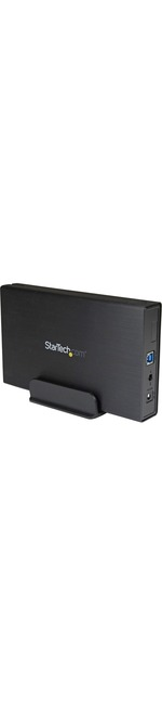 StarTech.com 3.5in Black USB 3.0 External SATA III Hard Drive Enclosure with UASP for SATA 6 Gbps