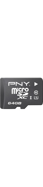 PNY Elite Performance 64 GB microSDHC - 100 MB/s Read - 30 MB/s Write - 1 Card