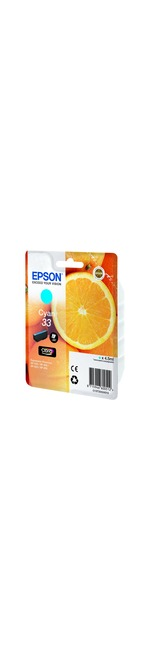 Epson Claria 33 Ink Cartridge - Cyan - Inkjet - 300 Page - 1 / Blister Pack - OEM