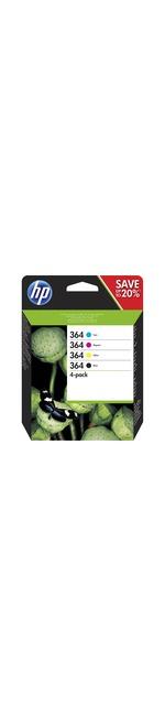 HP 364 Ink Cartridge - Yellow, Cyan, Magenta, Black - Inkjet - High Yield - 300 Page Yellow, 250 Page Black, 300 Page Cyan, 300 Page Magenta - 4 / Pack