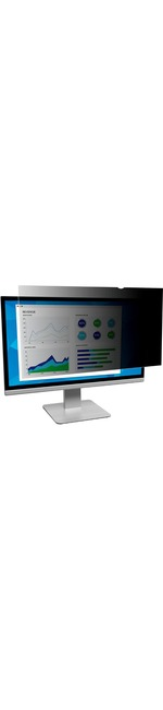 3M Black, Matte Privacy Screen Filter for 21.5And#34; Monitor