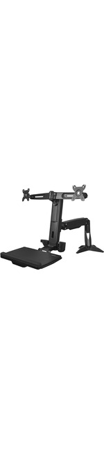 StarTech.com Sit Stand Dual Monitor Arm - For Two Monitors up to 24in - Dual Monitor Mount - Sit Stand Workstation - Height Adjustable - 2 Displays Supported61 cm