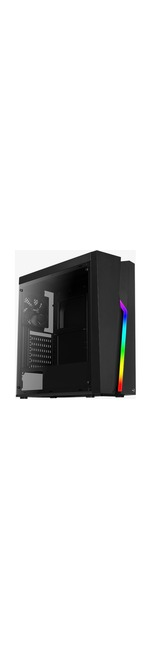 AeroCool Bolt Computer Case - ATX, Micro ATX, Mini ITX Motherboard Supported - Mid-tower - SPCC, Acrylic, Acrylonitrile Butadiene Styrene ABS - Black - 3.38 kg - 4
