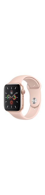 Apple Watch Series 5 Smart Watch - Wrist Wearable - Gold Aluminum Case - Pink Sand Band - Aluminium Case