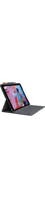 Logitech SLIM FOLIO Keyboard/Cover Case Folio iPad 7th Generation Tablet - Graphite - Bump Resistant, Scratch Resistant, Spill Resistant, Wear Resistant, Tear Re