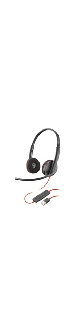 Plantronics Blackwire C3220 Wired Over-the-head Stereo Headset - Supra-aural - 20 Hz to 20 kHz - Noise Cancelling, Noise Reduction Microphone - USB Type A