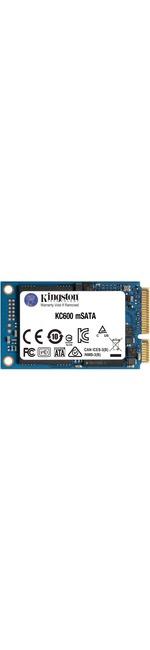 Kingston KC600 512 GB Solid State Drive - mSATA Internal - SATA SATA/600 - Desktop PC, Notebook Device Supported - 300 TB TBW - 550 MB/s Maximum Read Transfer Rate