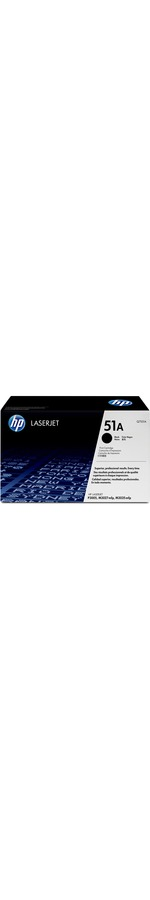 HP 51A Toner Cartridge - Black - Laser - 6500 Page - 1 Each
