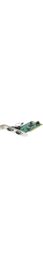 StarTech.com 2 Port PCI RS232 Serial Adapter Card with 16550 UART - 2 x 9-pin DB-9 Male 16C550 Serial