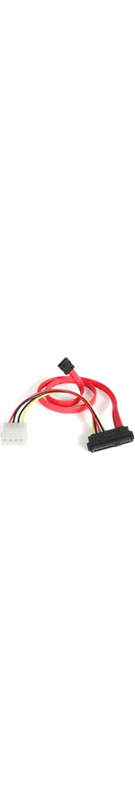 StarTech.com 18in SAS 29 Pin to SATA Cable with LP4 Power - 1 x Male SATA - 1 x Male SAS