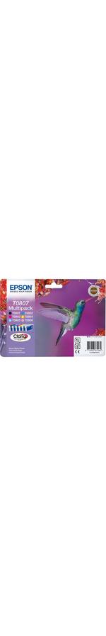 Epson Claria T0807 Ink Cartridge - Cyan, Magenta, Yellow, Black