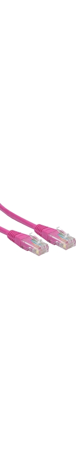 Cables Direct 10 m Category 5e Network Cable for Network Device - First End: 1 x RJ-45 Male Network - Second End: 1 x RJ-45 Male Network - Patch Cable - Pink