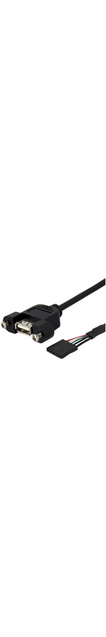 StarTech.com 3 ft Panel Mount USB Cable - USB A to Motherboard Header Cable F/F - 1 x Type A Female USB