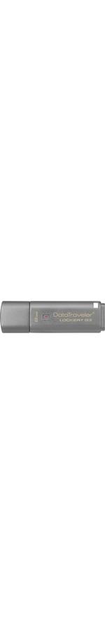 Kingston DataTraveler Lockerplus G3 8 GB USB 3.0 Flash Drive - Silver - 1 Pack