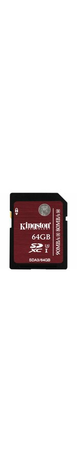 Kingston 64 GB SDXC - Class 3/UHS-I - 90 MB/s Read - 80 MB/s Write - 1 Card