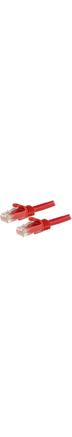 StarTech.com 3m Red Gigabit Snagless RJ45 UTP Cat6 Patch Cable - 3m Patch Cord - 1 x RJ-45 Male Network