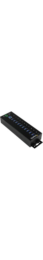 StarTech.com 10 Port Industrial USB 3.0 Hub - ESD and Surge Protection - DIN Rail or Surface-Mountable Metal Housing - 10 Total USB Ports - 10 USB 3.0 Ports