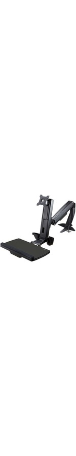 StarTech.com Sit Stand Monitor Arm - Monitor Arm Desk Mount - Sit Stand Workstation - for up to 24in Monitors - VESA Mount - Height Adjustable - 1 Displays Support