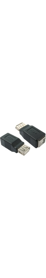 Cables Direct Data Transfer Adapter - 1 x Type A Female USB - 1 x Type B Female USB - Black