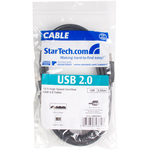 StarTech.com 10 ft USB 2.0 Certified A to B Cable - M/M - 1 x Type A Male - 1 x Type B Male - Black