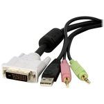 StarTech.com DVID4N1USB15 KVM Cable - 4.57 m - Black