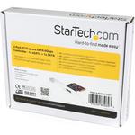 StarTech.com 1x eSATA plus 1x SATA 6 Gbps PCI Express SATA Controller Card Adapter - PCI Express - 600MBps - 1 x 7-pin Male Serial ATA/600 - External SATA