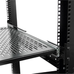 StarTech.com 1U Adjustable Depth Vented Sliding Rack Mount Shelf - 50lbs / 23kg - 22.68 kg x Maximum Weight Capacity