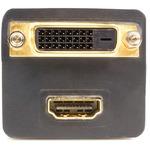 StarTech.com 1 ft DVI-D to DVI-D Andamp; HDMI Splitter Cable - M/F - Black