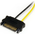 StarTech.com 6in SATA Power to 6 Pin PCI Express Video Card Power Cable Adapter - 6 - SATA - PCI-E