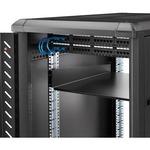 StarTech.com 2U 22in Rack Mount Cantilever Shelf - Fixed Server Rack Cabinet Shelf - 50lbs / 22kg