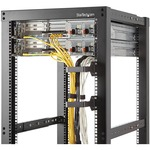 StarTech.com Multi-Directional Vertical Server Rack Cable Management D-Ring Hook 2.4x3.9in 6x10cm