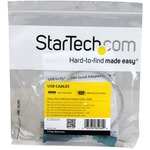 StarTech.com 1 Port USB to RS232 DB9 Serial Adapter Cable - M/M - 1 x DB-9 Male Serial - 1 x Type A Male USB