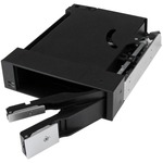 StarTech.com Dual Bay 5.25And#34; Trayless Hot Swap Mobile Rack Backplane for 2.5/3.5And#34; SATA/SAS HDD/SSD