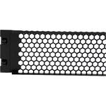 StarTech.com 2U Tool-Less Vented Blank Rack Panel - Steel - Black - 2U Rack Height -  88.9 mm Height