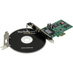 StarTech.com PCI Express PCIe Gigabit Ethernet Multimode SC Fiber Network Card Adapter NIC - 550m - PCI Express x1 - 1 Ports - 1 x SC Ports - Optical Fiber