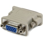 StarTech.com DVI to VGA Cable Adapter M/F - 10 pack - 1 x DVI-I Male Video - 1 x HD-15 Female VGA - Beige