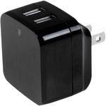 StarTech.com Dual Port USB Wall Charger - High Power 17 Watt / 3.4 Amp - Travel Charger International