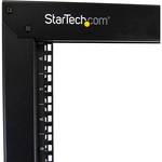 StarTech.com 2-Post Server Rack with Sturdy Steel Construction and Casters - 42U - Steel