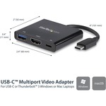 StarTech.com USB-C to 4K HDMI Multifunction Adapter with Power Delivery and USB-A Port