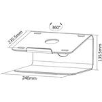 Newstar Raised and Rotatable Aluminium Laptop Stand