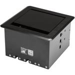 StarTech.com Conference Table Cable Management Box - Table Top - Conference Room AV - Conference Table Connectivity Box - Steel, Aluminium