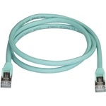 StarTech.com CAT6a Ethernet Cable - 91cm - Aqua Network Cable - Snagless RJ45 Cable - Ethernet Cord - 91cm / 91cm 3 ft. - First End: 1 x RJ-45 Male Network - Secon