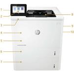 HP LaserJet M608 M608n Laser Printer - Monochrome - 61 ppm Mono - 1200 x 1200 dpi Print - Manual Duplex Print - 650 Sheets Input